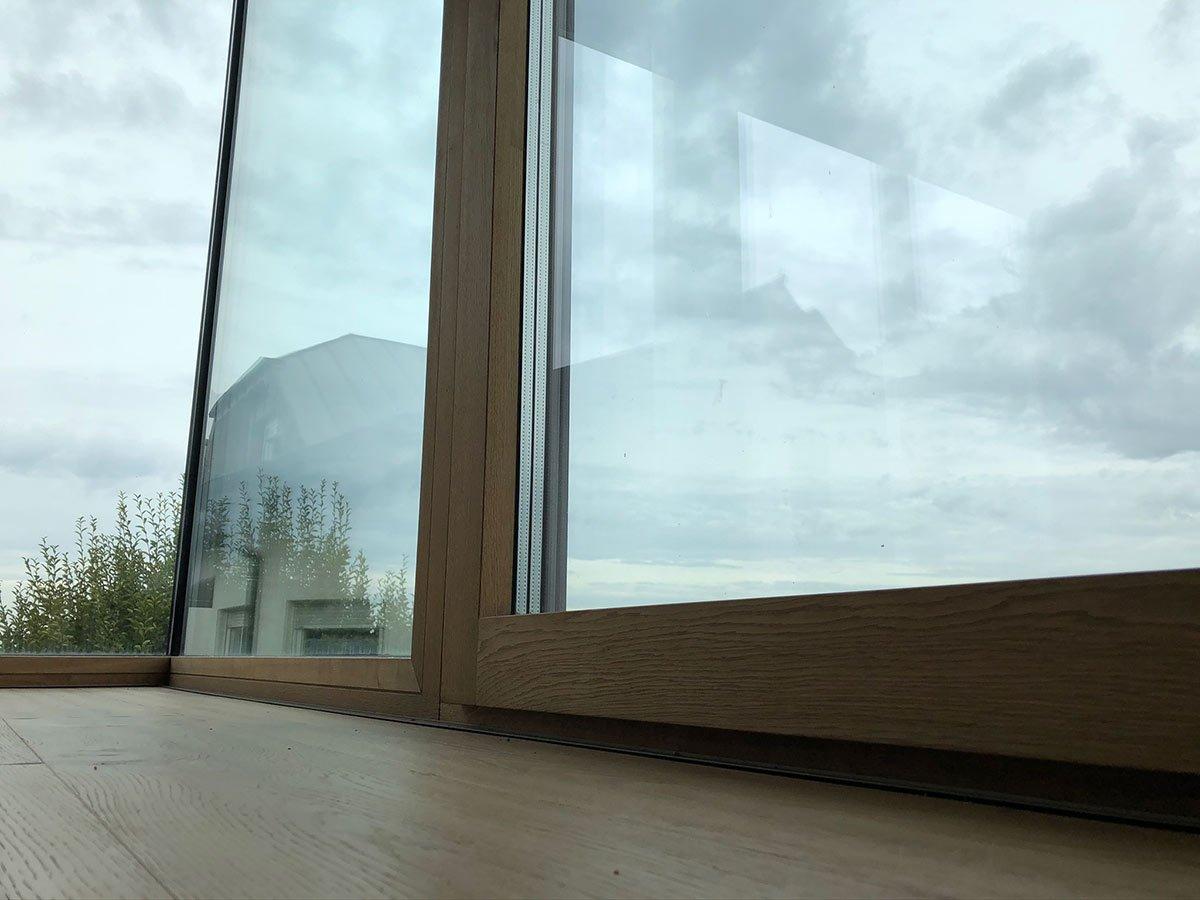 Glasfront-Elemente-Holz-dunkel