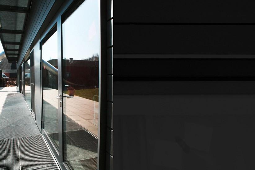 Holz-Glas-Fassade